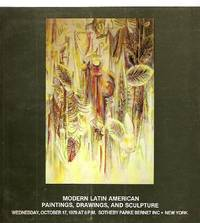 image of MODERN LATIN AMERICAN PAINTINGS, DRAWINGS, AND SCULTPURE: WEDNESDAY,  OCTOBER 17, 1979 AT 8 P.M.: SOTHEBY PARKE BERNET INC. NEW YORK