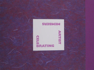 (New York: Center for Book Arts, 2005. lavender Fabriano Tiziano paper covered storage box with deep...
