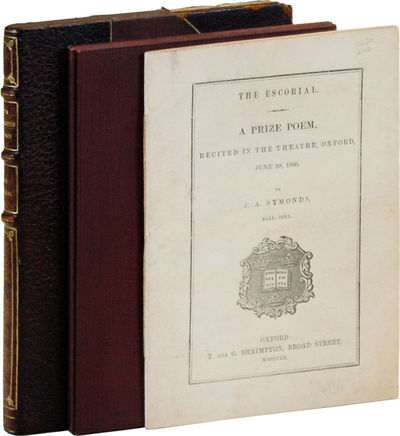 Oxford: T. and G. Shrimpton, 1860. First Edition. 12mo (18cm.); publisher's cream decorative side-st...