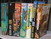 """Discworld series:  The Colour of Magic; (with) Equal Rites; (with) Soul Music; (with) Jingo; (with) Carpe Jugulum; (with)  Night Watch; (with) Unseen Academicals;   -(7 volumes from the """"Discworld"""" series)-"""