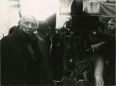 N.p.: N.p., 1976. Vintage borderless black-and-white press photograph of director Joseph Losey and A...