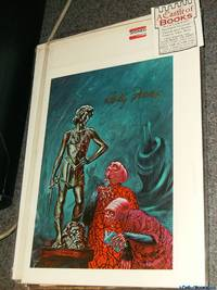 """*Signed* 9""""x6"""" Color Print Post Card of """"The Art Critics"""" by Kelly Freas from """"The Light That Never Was"""" by Lloyd Biggle"""