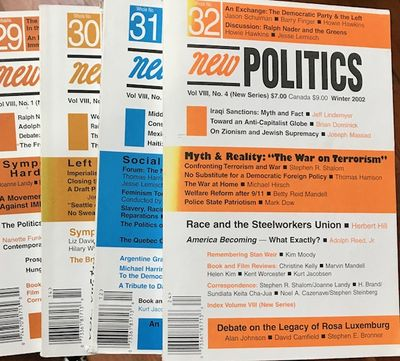 New York: New Politics Publishing Company, 2002. Thirty-two issues of the socialist journal, paperba...
