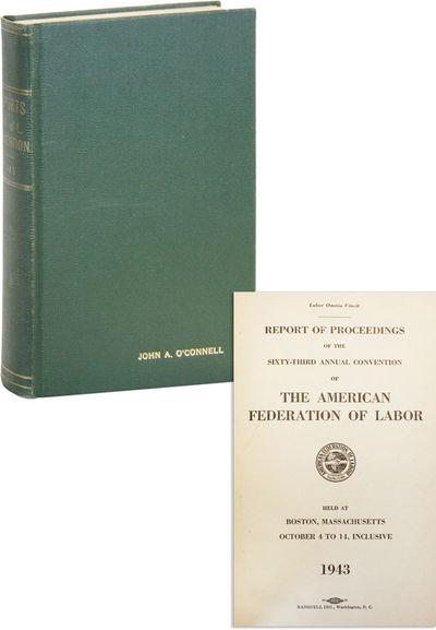 Washington DC: Ransdell Inc, 1943. First Edition. Octavo (23cm.); green cloth presentation binding s...