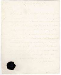 Appointment to the garrison at Louisbourg. Autograph letter, signed.