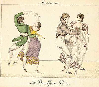 La Sauteuse. Le Bon Genre, No. 21. . From Observations sur les modes et les usages de Paris, pour se...