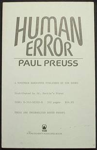 image of Human Error [Uncorrected Bound Proofs]