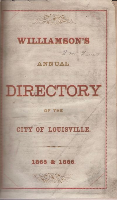 : Jno. B. Williamson, 1865. First Edition. Hardcover. Good. Octavo. , pages 5-324, , 122 pages