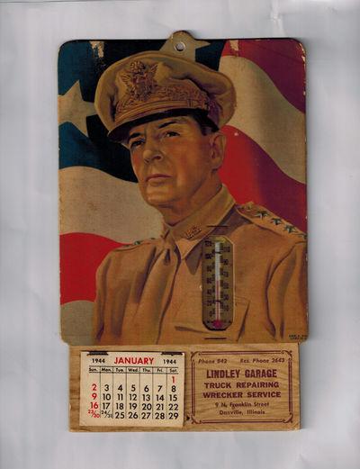 Danville, Illinois: Lindley Garage, 1944. World War II patriotic calendar, 1944, 5 3/4