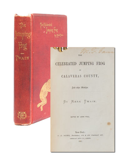 New York: C. H. Webb, 1867. First edition. Very Good. First issue of Mark Twain's first book.