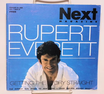 New York: Next Pub, 2000. Magazine. 72p. including covers, 8.25x7.75 inches landscape format, photos...