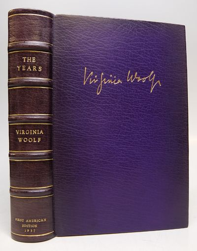 New York: Harcourt, 1937. hardcover. fine. 435pp., thick 8vo, rebound in full purple morocco, gilt-l...