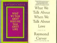 collectible copy of What We Talk About When We Talk About Love