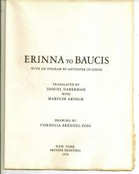 ERINNA TO BAUCIS With an Epigram by Antipater of Sidon