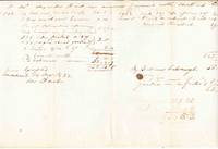 Alexander Hart's accounts with his older brother, Moses Hart. Autograph note, signed