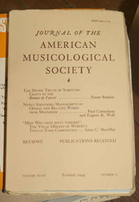 Journal of the American Musicological Society. Volume XLVI Summer 1994, Number 2
