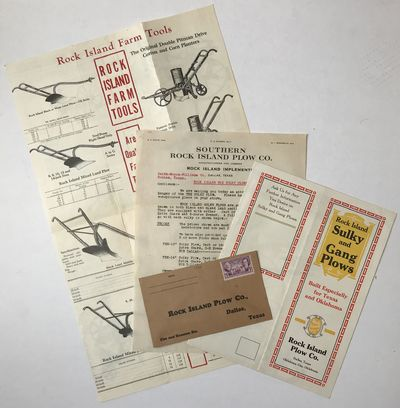 [Dallas, 1936. Very good.. Four items, including two folding pamphlets, one typed letter, signed, an...