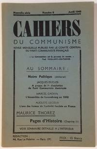 image of Cahiers du Communisme. Nouvelle serie, No. 6 (April 1945)