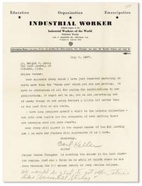 Typed Letter, Signed, Addressed to Dwight V. Swain