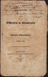 image of CATALOGUE OF THE OFFICERS & STUDENTS of Union College, June 1824