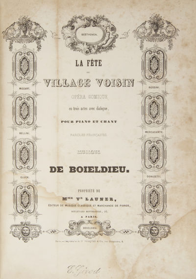 Paris: Boieldieu , 1843. Large octavo. Quarter maroon cloth with marbled boards, titling gilt to spi...