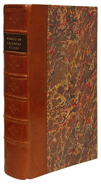 A Digest of Adjudged Cases in the Court of King's Bench, From the.. by Gentleman of Lincoln's Inn  - 1775  - from The Lawbook Exchange Ltd (SKU: 69491)