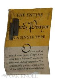 Elizabeth (NJ): American Type Founders, n.d.. glassine envelope, folded sheet, two cast type example...