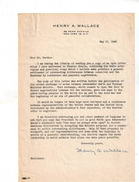 """Typed Letter Signed to Speaker of the House Joseph Martin and """"an open letter to Premier Stalin"""""""