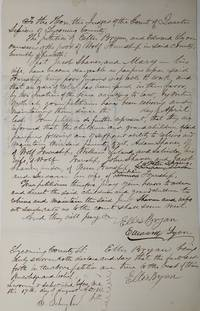 An 1861 Court Order for Children to Support Pauper Parents, [together with] Testimony Relating to the Case