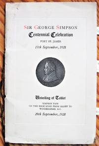 image of Sir George Simpson Centennial Celebration. Fort St. James 17 September, 1928. Unveiling the Tablet