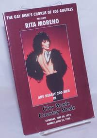 image of The Gay Men's Chorus of Los Angeles presents Rita Moreno_Nearly 200 Men in City Music, Country Music [program] June 20_21, 1992 at the Wiltern Theatre, Los Angeles, CA