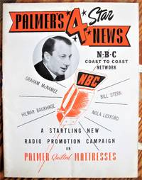 image of Palmer's 4 Star News. NBC Network Coast to Coast. A Startling New Radio Promotion Compaign on Palmer Quilted Mattresses