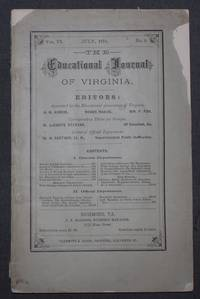 THE EDUCATIONAL JOURNAL OF VIRGINIA, July, 1875; Volume VI, Number 9.
