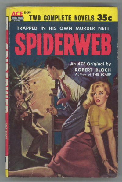 New York: Ace Books, 1954. Small octavo, pictorial wrappers. First edition. Ace double D59. Paperbac...