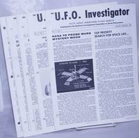 image of U.F.O. Investigator; Facts About Unidentified Flying Objects [broken run]: Volume II, Nos. 7, 9, 10, 11, 12;  Volume III, Nos. 1 thru 11; Volume IV, Nos. 1 thru 3  [19 unduplicated issues], plus seven enclosures; 26 separate related items together as a small lot