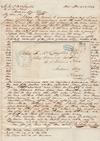 An important archive relating to the short, tragic life of a Seminole Wars naval hero, who though br...