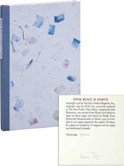 Concord: William B. Ewert, 1992. First, Limited Edition. Deluxe Issue, one of 40 numbered copies han...