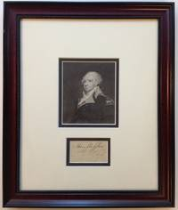 Clipped Signature Framed with a Portrait by  Thomas (1744 - 1800) MIFFLIN - Signed - 1785 - from Argosy Book Store and Biblio.com