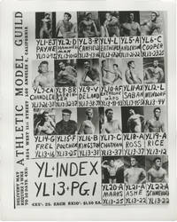 image of Archive of nine contact sheets with photos for male models/bodybuilders at the Athletic Model Guild (AMG), circa 1950s