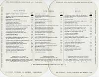 VINTAGE BREAKFAST MENU FOR A. STEIGENBERGER HOTELGESELLSCHAFT HOTELS,  GERMANY