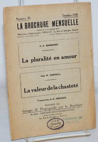 image of La pluralité en amour [with] La valeur de la chasteté
