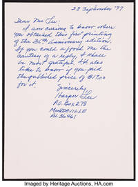 image of To Kill a Mockingbird  (SIGNED) with handwritten Lee letter