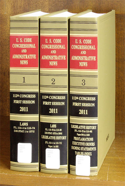 2011. 3 Volumes. Complete set 112th Congress 1st Session. 3 Volumes. Complete set 112th Congress 1st...