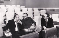 image of Original photograph of Sergio Leone, Ennio Morricone, and Henri Verneuil, 1972