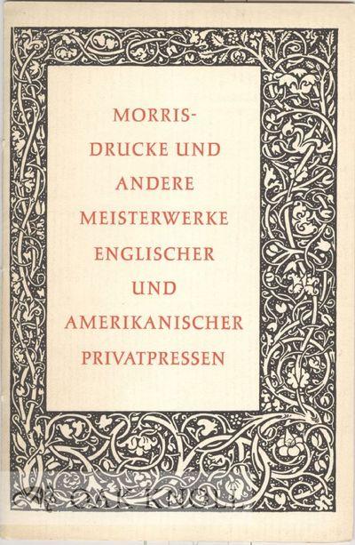 Mainz: Gutenberg- Museum, 1954. stiff paper wrappers. Private Press. 8vo. stiff paper wrappers. 32 p...