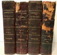 The American Almanac and Repository of Useful Knowledge. 1830-1837. 8 volumes in 4 books