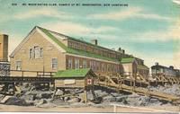 image of Mt Washington Club,Summit of Mt. Washington, NH on 1940s-50s Color Linen Postcard