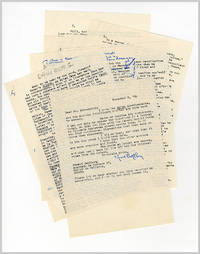 ORIGINAL TYPED MANUSCRIPT, SIGNED, WITH AUTOGRAPH INSERTIONS
