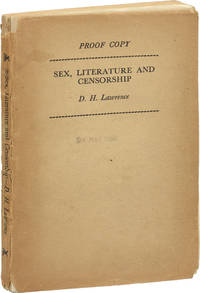 image of Sex, Literature, and Censorship (UK Uncorrected Proof)