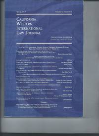 California Western International Law Journal  Spring  2012  Vol 42  No 2